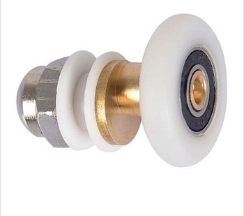 2020 Newest Hot Sale 2PCS/lot 19mm-27mm Diameter Partiality Shower Bath Door Rollers Runners Wheels Pulleys Long Lasting