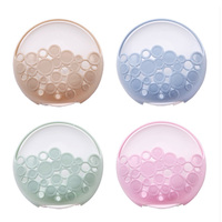 4color No-nail Multi-functional Sucker Soap Dish Bathroom Kitchen Wall-mounted Drain Suction Cup Hollow Soap Shelf Holder JXS 2