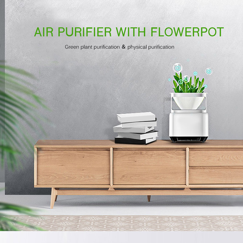 US $27 49 30% OFF|Portable Air Purifier Anion Sterilization Cleaner Desktop  Remove Cigarette Smoke Odor Smell Bacteria Negative Ion with Flowerpot-in
