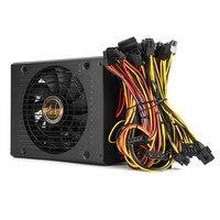80 Puls Efficiency Modular 1800W PC BTC Eth Miners Power Supply Computer Mining Power Supply SATA