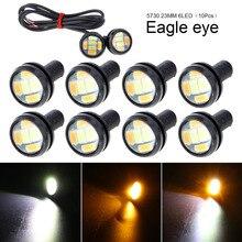 10 шт 23 мм 12 V 6 Светодиодный крючке свет лампы высокой Мощность 5730 двойной Цвет Авто Туман DRL обратный резервный уголок стоп парковочный сигнал лампа