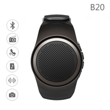 B20 Bluetooth Smart Watch Hands-free call with Self-timer Anti-Lost Alarm TF Card FM Radio Music Sport Mini Bluetooth Speaker