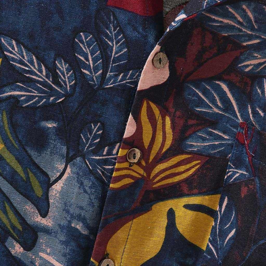Мужская рубашка для отдыха Camisa, многоцветная, с нагрудным карманом, короткий рукав, круглый подол, свободные рубашки, блузка, Гавайские пляжные Топы