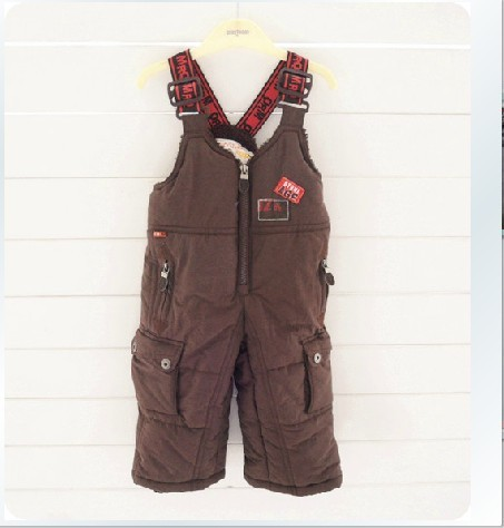 2018 Solid Hot Sale Sale Overalls For Children Retail Winter And Children's Ski Pants Strap Trousers Free Shipping In Stock цена