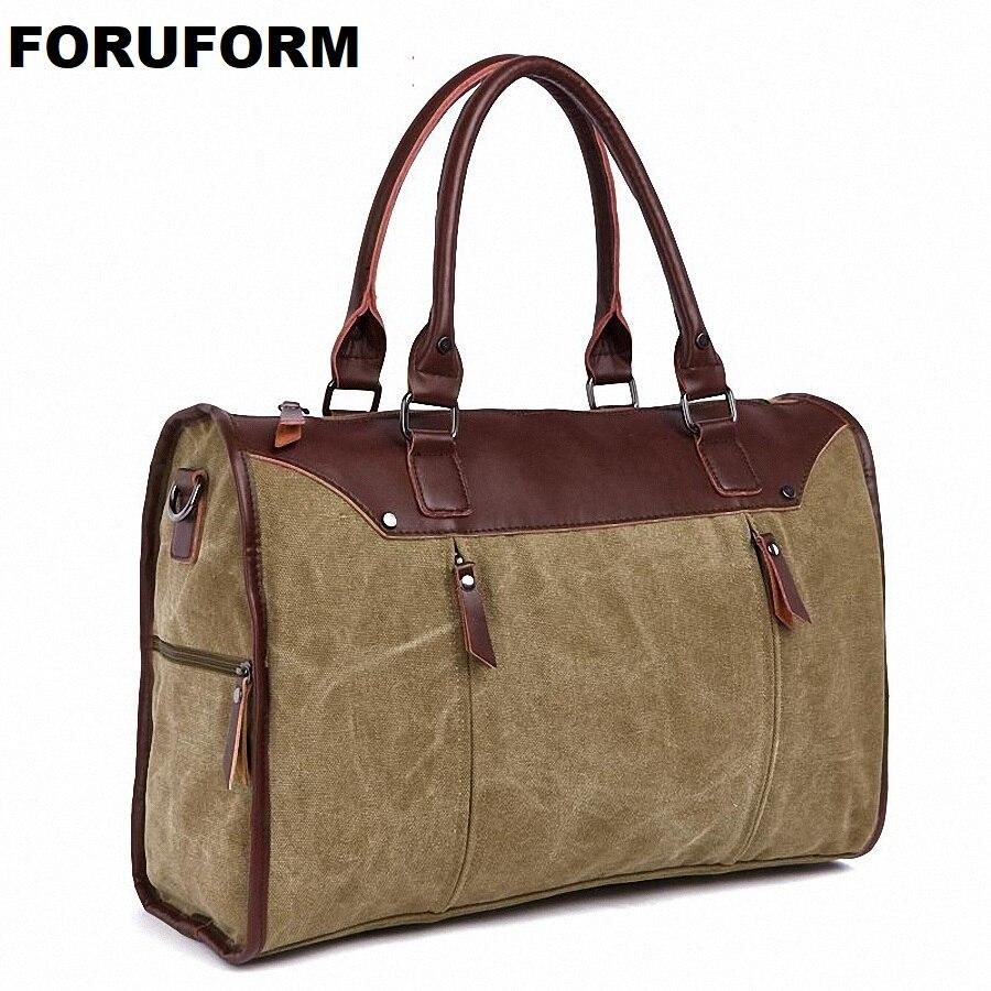 2019 nouvelles femmes sacs de voyage grande capacité toile solide hommes bagages voyage sacs de voyage pour voyages LI-1348