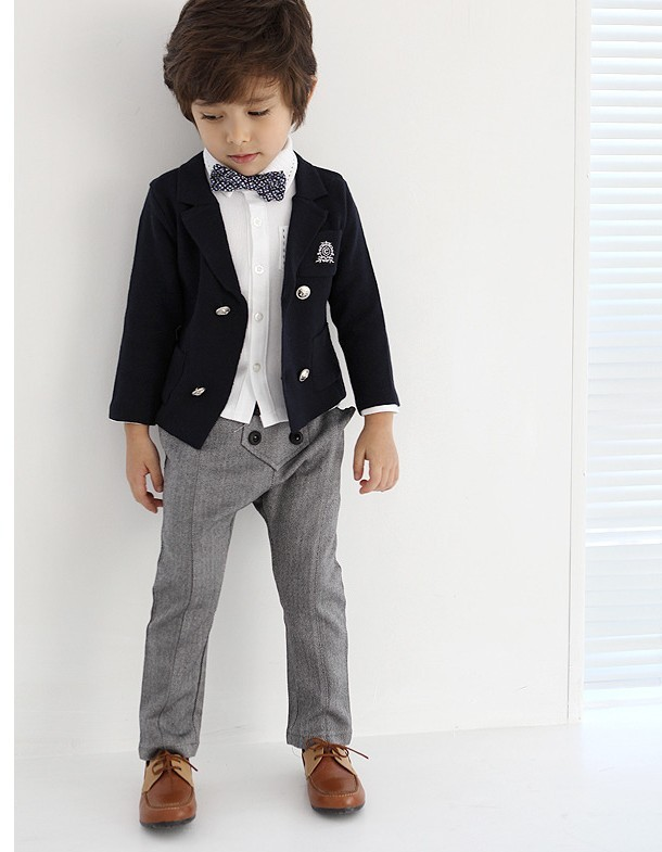 Free Shipping High Quatity Classic Formal Dress Kids Blazers Jackets Boys Wedding Suit Children ...