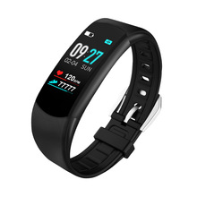 New IPS color screen smart bracelet step heart rate blood pressure oxygen wristband waterproof swimming fitness