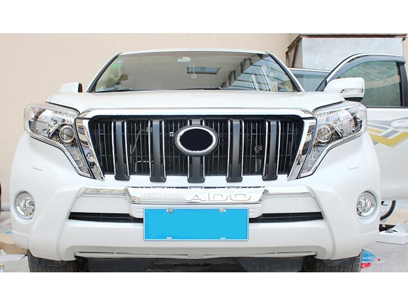 white bottom Front Bumper Protector guard For Toyota Prado fj150 2014 2015 car front vent bumper guard white silver