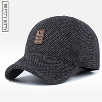 2017 Warm Winter Spring Thickened Baseball Cap With Ears Men S Cotton Hat Snapback Winter Hats