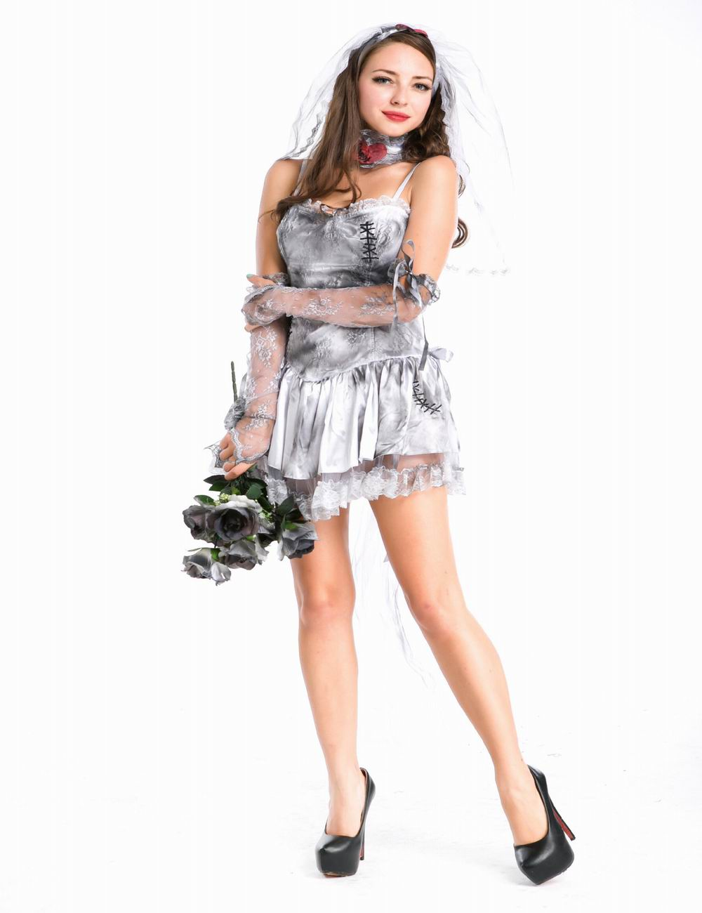 Ensen Succuba Ghost bride Vampire dress Scarey font b cosplay b font costume zombie Chucky fantasias
