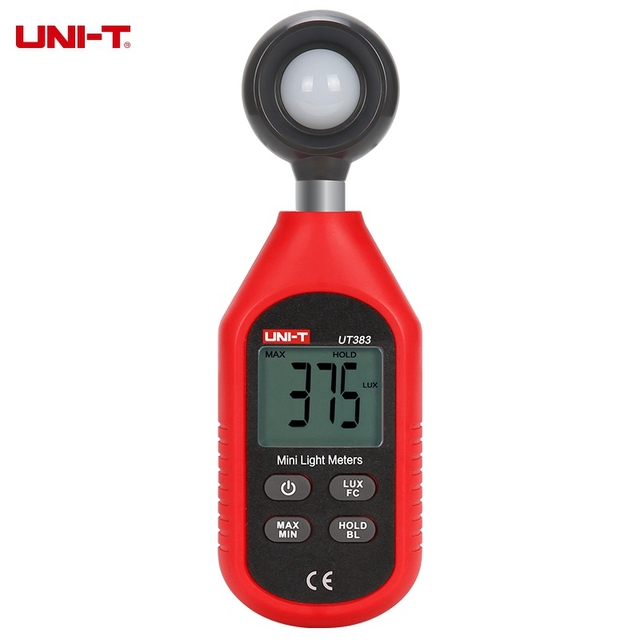 UNI-T UT383 Digital Luxmeter Light Meter Lux / FC Meter Luminometer Photometer 200,000 Lux