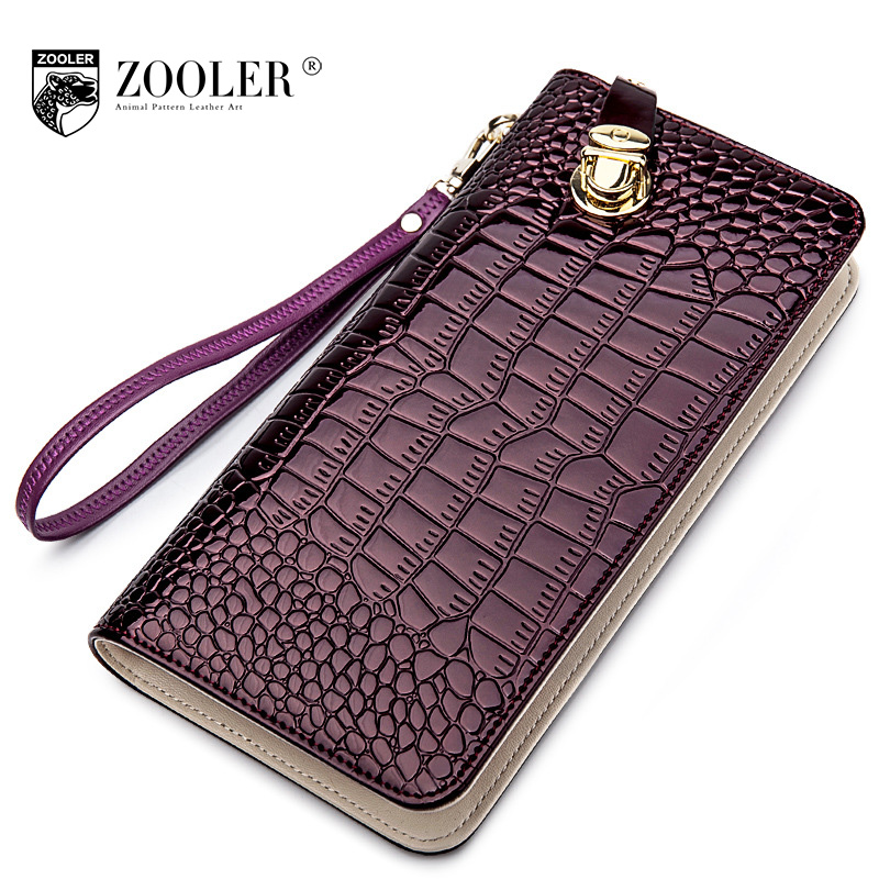 ZOOLER Women Genuine Leather Wallets Female Fashion Crocodile Pattern Card Holder Ladies Multi-function Clutch Purses Party Bag 2016 luxury women wallets genuine leather crocodile purses business wallets for woman shinning money cash bag card holder clutch