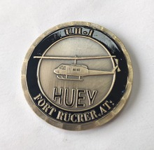 Free shipping, Huey Helicopter UH-1 Ft Rucker Army Challenge Coin St, USAF Bronze Commemorative coins, 3/5/10/15/20pcs/lot