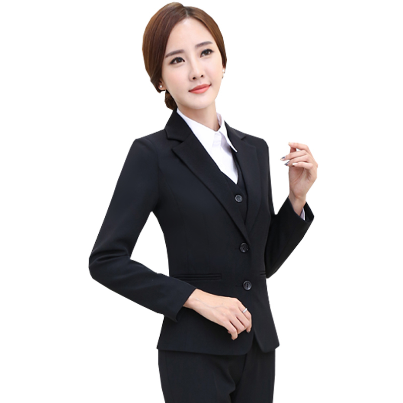 New 2017 Women Blazers Single Breasted Jackets Fashion Solid Slim Office Wear Coat Female Outerwear Plus Size F11