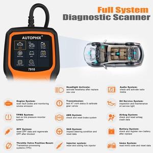 Image 2 - Autophix 7910 Professional OBD2 Automotive Scanner For E46 E90 E60 E39 DPF TPMS SAS Oil Reset Full System OBDII Diagnostic Tool
