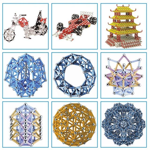BD 100/150/200pcs Magnet Bars Metal Balls Kids Magnetic Building Blocks Construction Educational Toys Intelligence Toy Creation