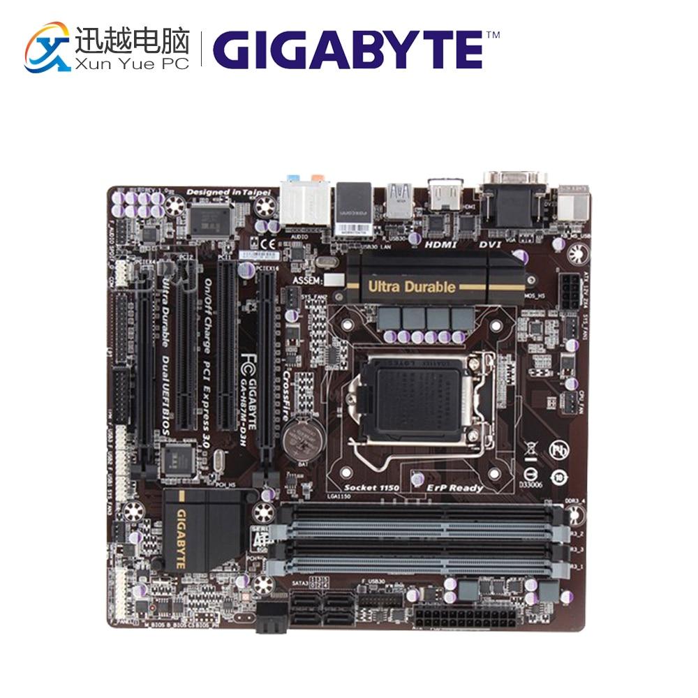 все цены на Gigabyte GA-H87M-D3H Desktop Motherboard H87M-D3H H87 LGA 1150 i3 i5 i7 DDR3 32G SATA3 Micro-ATX онлайн