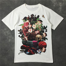 Chic women/men floral print T shirts comfort short sleeve Tee tops D583 все цены