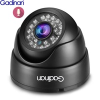 Gadinan Full HD 1080P Audio Sound Real Time 25fps 2.0MP Security Night Vision Dome ONVIF XM530AI DSP IP camera DC 12V/48V POE