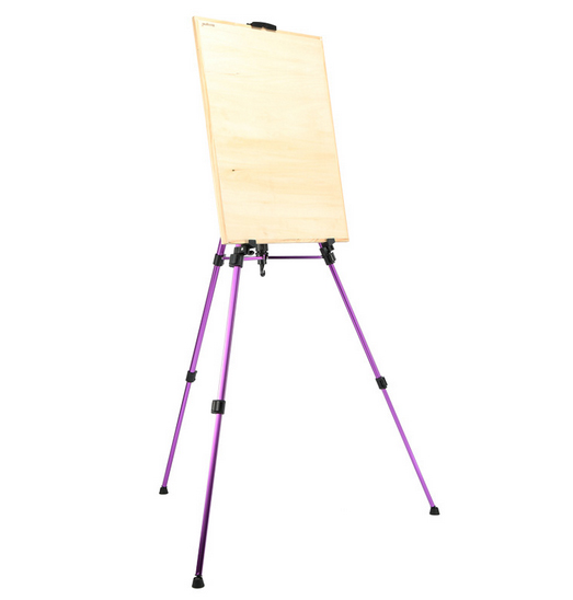 1pc Colored Easel Aluminium Alloy Folding Painting Easel Frame Artist Adjustable Tripod Display Shelf With Carry Bag Outdoors vik max adult kids dark blue leather figure skate shoes with aluminium alloy frame and stainless steel ice blade