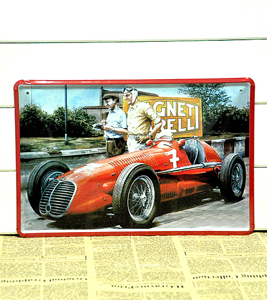 Free Shipping Garage Classical F1 CAR TIN SIGN Wall Metal Painting Vintage Retro Poster Home Decor Wall Decoration 8*12 inch