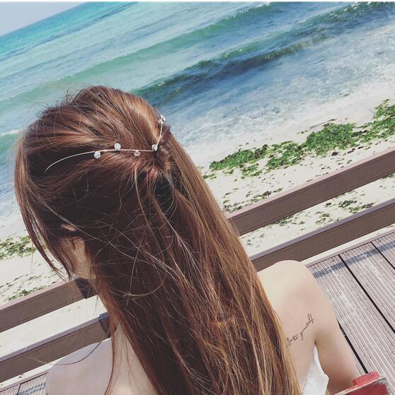 Korea Alloy Flower Crown Hair Accessories Weave Hair Bows Rim Hairpin Hair Clips For Women Headbands For Girls Barrette -4