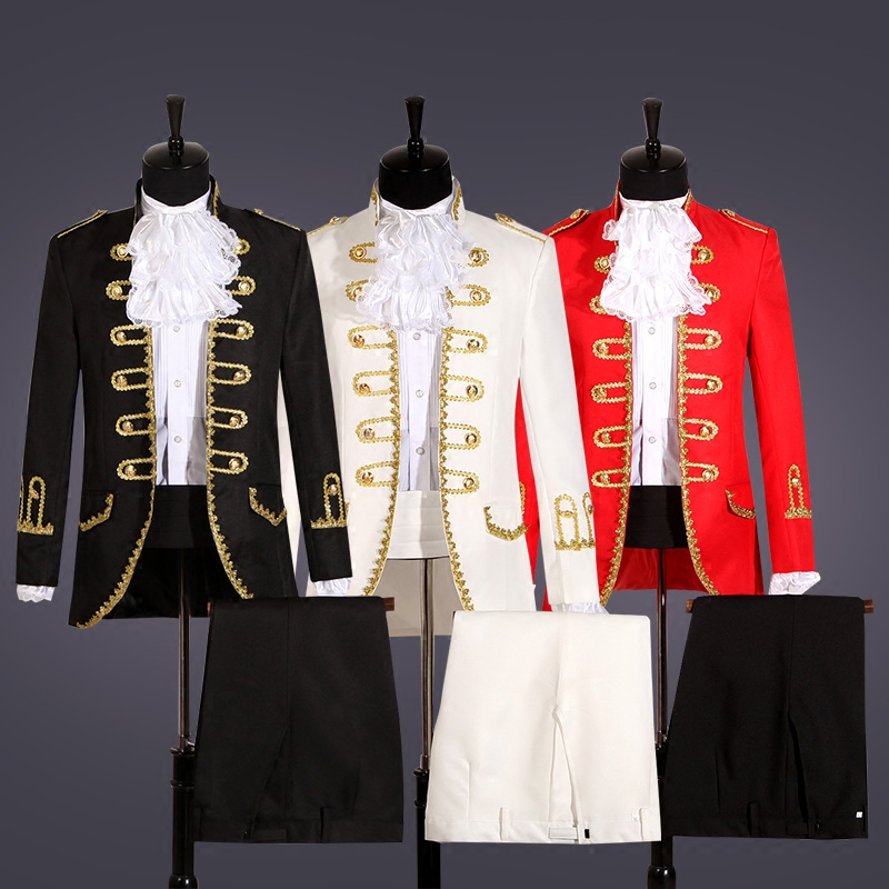 Double-breasted Blazers Male Suit European Style Court Dresses Costume Wedding Host Chorus Outfit Studio Stage Performance Suit