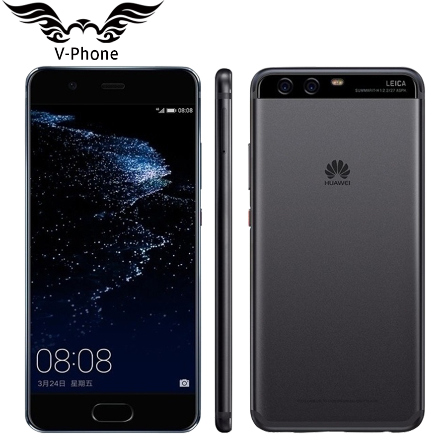 Original Huawei P10 4G LTE 4GB RAM 64/128GB ROM 5.1inch 1920x1080 Kirin 960 Octa Core Dual Rear Camera 20MP Fingerprint NFC OTG