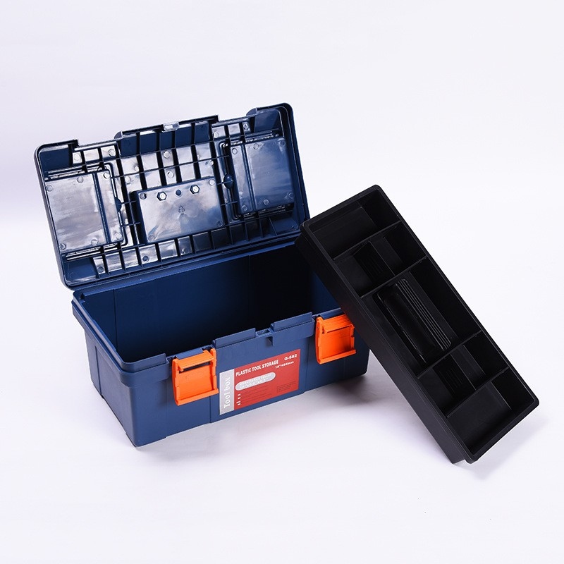 16.5 Inch Plastic Tool Box With Handle Tray Car Tool Storage Box Large Capacity Hardware Electrical Tool 42*22*19.5cm