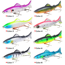 1pcs Lu Ya Bait 3D Color Multi-section 18g/13cm Plastic Bionic Hooks Fishing Gear Free Shipping