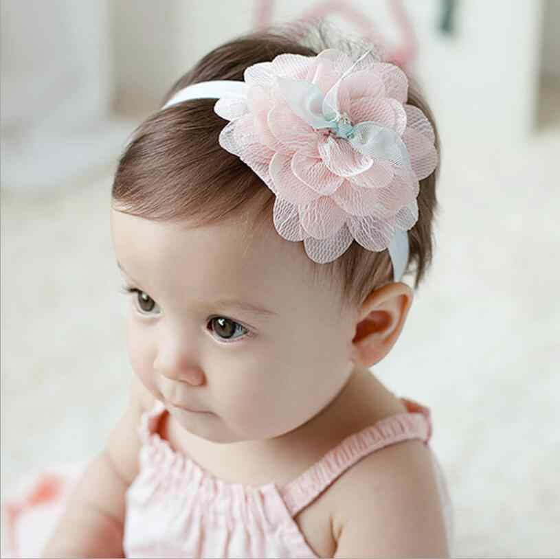 1 Piece MAYA STEPAN Headwrap Lace Flower Baby Headbands Headwear Girls Hair Hairband Head Band Infant Newborn knitting