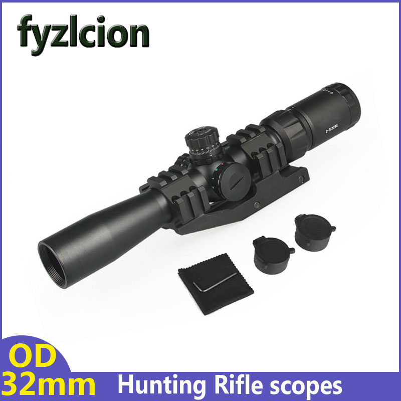 Fyzlcion 2-7X32BE Tactical Cross Sight Hunting Rifle scopes with Red Green blue IlluminatedFyzlcion 2-7X32BE Tactical Cross Sight Hunting Rifle scopes with Red Green blue Illuminated