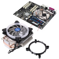 5 Colors Cooling Fan CPU Cooler Computer Processor Lighting Radiator 2 Heat Pipes Leak proof for Intel 1150/ 1151/ 1155 AMD