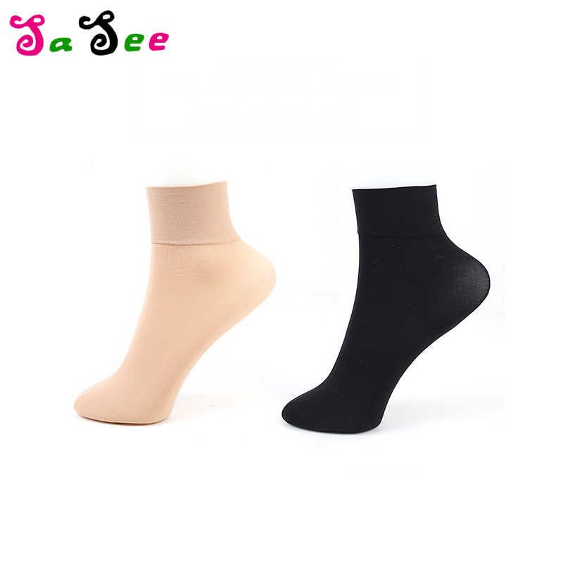 5 пара Лидер продаж высокое качество унисекс осень-зима бархат Для женщин короткие носки одноцветное Цвет анти-офф шелковые носки толстые женские носки