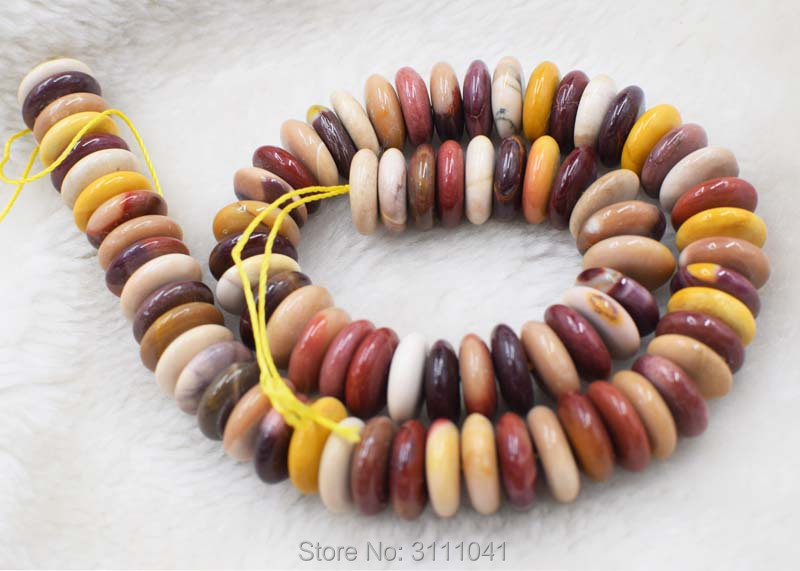 yellow egg agate roundel 14*4mm 15 for DIY jewelry making loose beads FPPJ wholesale beads nature gem stone image