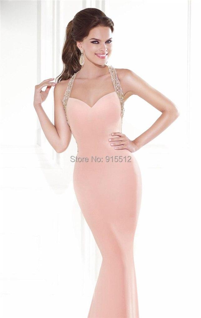 Sexy 2015 vestidos de noche largo de espalda escotada del vestido de ...