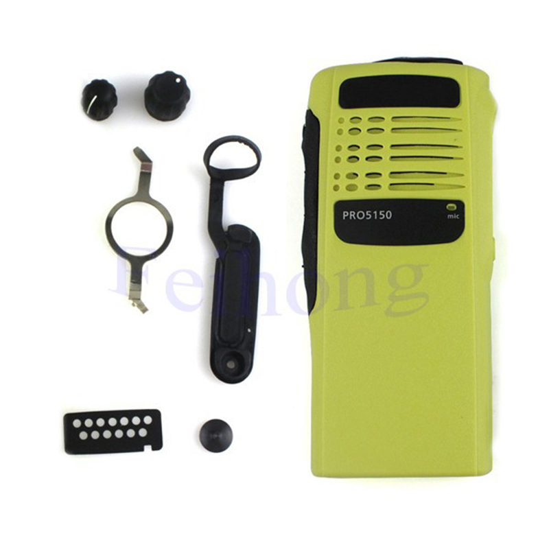 Yellow Radio Service Parts Case Refurb Kit For Motorola PRO5150 WalkieTalkiewalkie Talkie