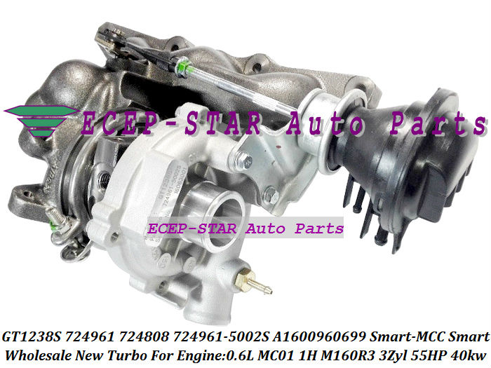 GT1238S 724961 724961-5002S 724808 A1600960699 GT12 Turbo Turbocharger For Smart-MCC Smart 0.6L MC01 1H M160R3 3Zyl 55HP 40kw