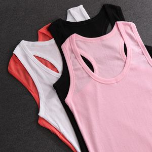 Image 4 - 1PC Fashion Womens Solid Soft Comfortable Cotton Tank Top  Cami Vest No Sleeve T Shirt 5 Colors Available