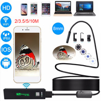 Antscope 8mm Lens Wifi Endoscope Android Iphone Borescope Camera Soft Wire Endoscopic IOS Wifi Camera Inspection