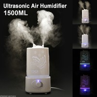 7 Color LED 1 5L Ultrasonic Home Aroma Humidifier Air Diffuser Purifier Lonizer Atomizer High Quality