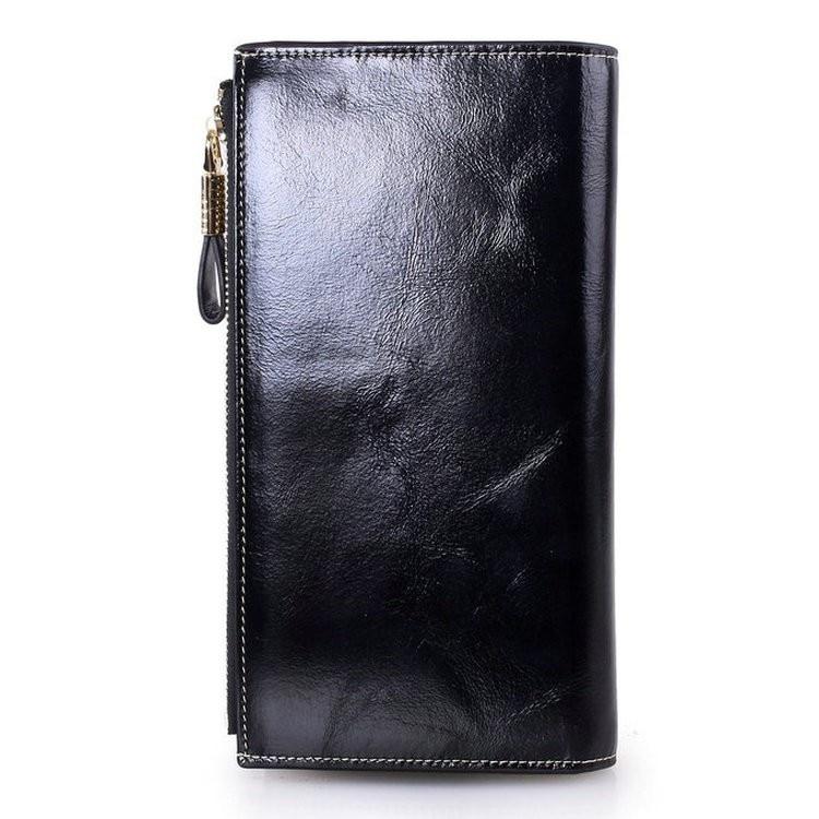 mens leather wallets black