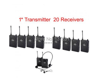 Top Quality Hot Cheap 20person Tour Group Guide Church Assistive Listening System Package als System 1 Transmitter 20 Receivers
