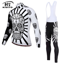 Jersey-Set Cycling-Clothing Wear Mountain-Bike Racing-Bicycle Fleece Winter Thermal KIDITOKT
