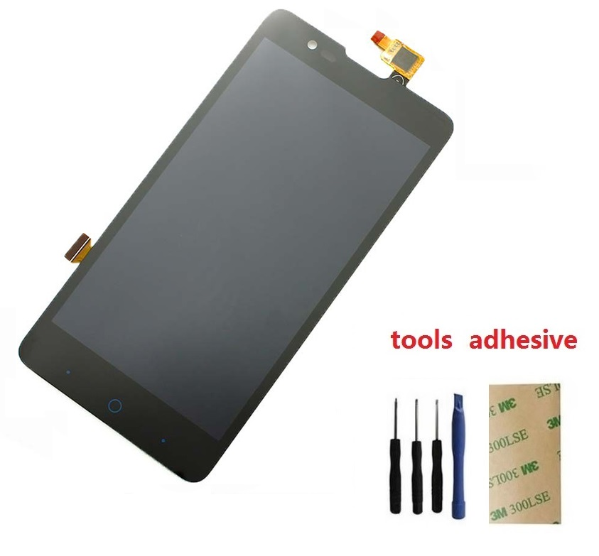 ФОТО Full LCD DIsplay + Touch Screen Digitizer Sensor Assembly For ZTE Redbull V5 V9180 N9180 U9180 5.0 inch + Adhesive + kits