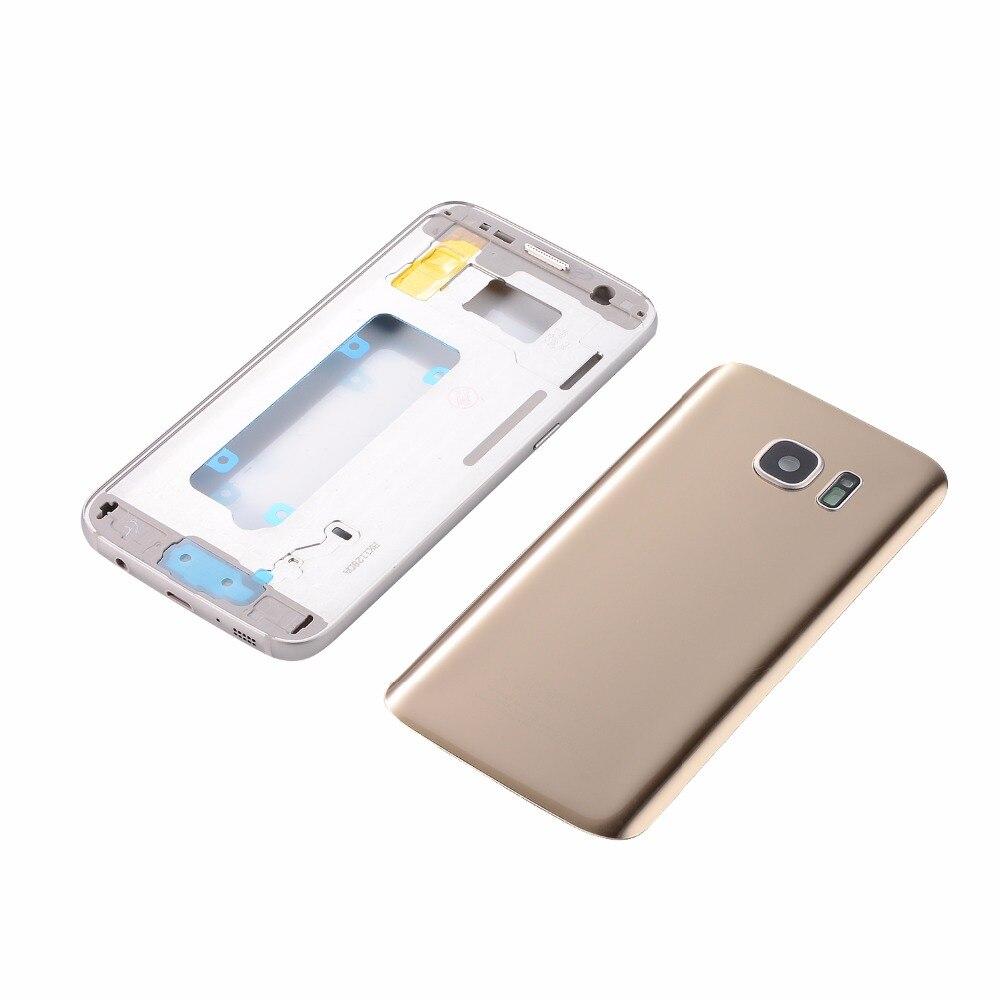 Original Metall Mittleren Frame + Gehäuse Glas Batterie Zurück Abdeckung Für Samsung Galaxy S7 G930 S7 Rand G935 (Einzel karte alle versionen)