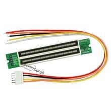 1 مجموعة البسيطة المزدوج 12 مستوى مؤشر VU متر مكبر صوت استيريو مجلس قابل للتعديل سرعة الضوء مجلس مع AGC وضع Diy كيت