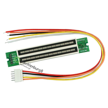 Conjunto de mini dual 12 1 indicador de nível medidor VU stereo amplifier board Ajustável modo de velocidade da placa de luz com AGC KIT Diy