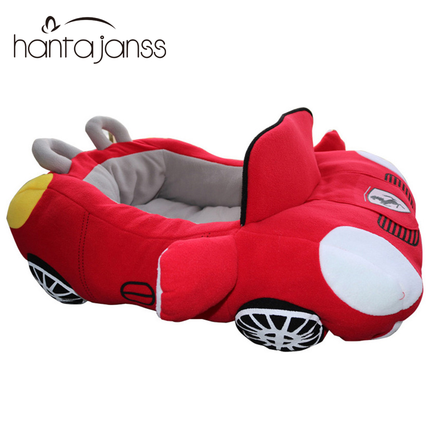 Cool Pet Dog Beds House Fashion Sports Car Shape Soft Material Durable Nest Dogs Cats Warm Cushion For Teddy Kennels