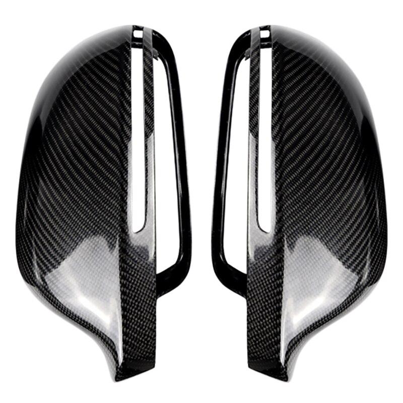 Pour Audi A4 B8 2008-2011 A5 B8 2009-2012 fibre de carbone côté aile miroir couvre casquettes remplacement décoration